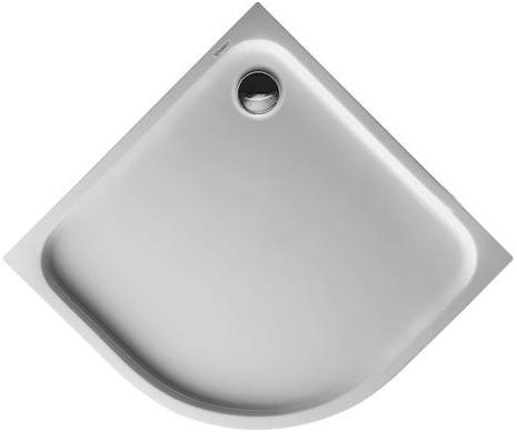 Čtvrtkruhové sprchové vaničky
