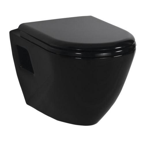 Černé WC a bidety