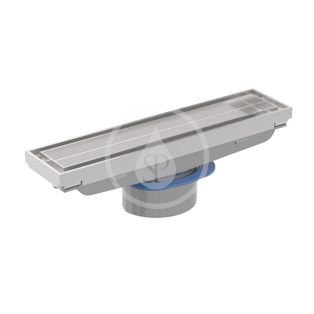 Geberit CleanLine Sprchový kanálek pro vložení dlažby, kartáčovaná nerezová ocel