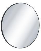 Zrcadlo Virro kulaté černá 60 cm