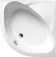Pollysan SELMA hluboká sprchová vanička, čtvrtkruh s konstrukcí 90x90x30cm, R550, bílá