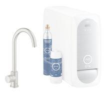 Grohe Blue Home Dřezový ventil Mono Connected, s chladícím zařízením a filtrací, supersteel