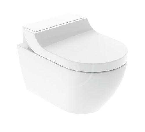 Geberit AquaClean Elektronický bidet Tuma Comfort s keramikou, Rimfree, SoftClosing, alpská bílá