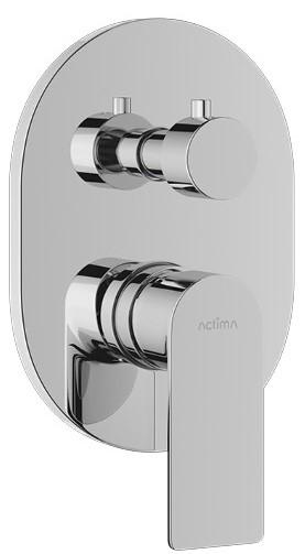 Podomítková baterie GLAD vana/sprcha 11,9x16,8 cm, chrom