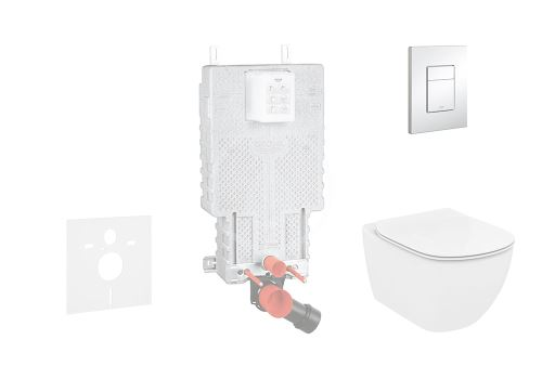 Grohe Uniset Sada pro závěsné WC + klozet a sedátko softclose Ideal Standard Tesi