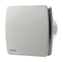 Sapho LEX koupelnový ventilátor axiální s časovačem, 15W, potrubí 100mm, nerez