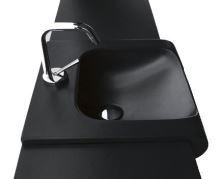 Kerasan INKA keramické umyvadlo 60x40cm, černá mat