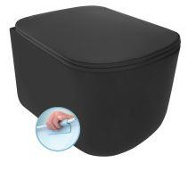 TRIBECA WC závěsné NORIM 35x35,5x54 cm, černá mat