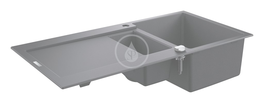 Grohe Dřezy Kompozitní dřez K500 s automatickým odtokem, 1000x500 mm, granitová černá