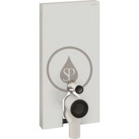 Geberit Monolith Plus Sanitární modul pro stojící WC, 101cm, boční přívod vody, bílá