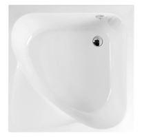 Polysan CARMEN sprchová vanička čtvercová 90x90x30cm, hluboká, bílá s podstavcem