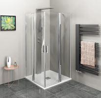 Polysan ZOOM LINE čtvercová sprchová zástěna, čiré sklo