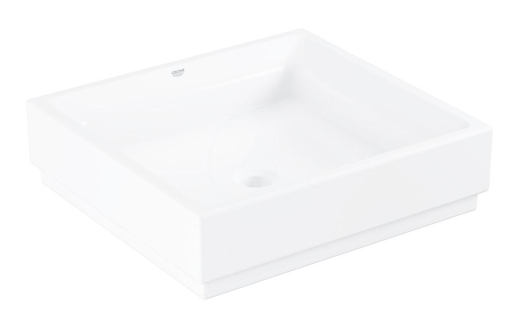 Grohe Cube Ceramic Umyvadlo bez přepadu, 500x470 mm, PureGuard, alpská bílá