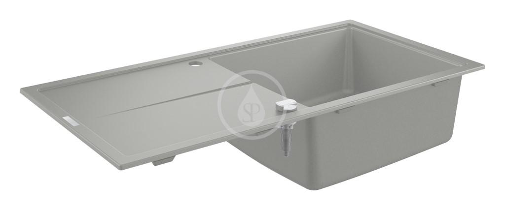 Grohe Dřezy Kompozitní dřez K400 s automatickým odtokem, 1000x500 mm, granitová šedá