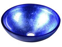 Sapho MURANO BLU, skleněné umyvadlo kulaté 40x13 cm, modrá