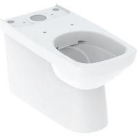 Geberit Selnova Square WC kombi mísa, vario odpad, 680x350 mm, Rimfree, bílá