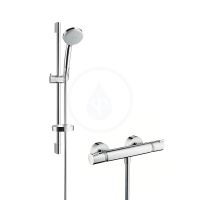 Hansgrohe Ecostat Comfort Combi 0,65 m s ruční sprchou Croma 100 Vario, chrom