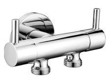 Sapho Dvojventil pro napojení bidetové spršky a WC, chrom