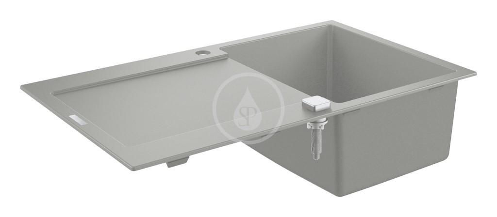 Grohe Dřezy Kompozitní dřez K500 s automatickým odtokem, 860x500 mm, granitová šedá