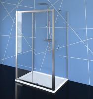 EASY LINE třístěnný sprchový kout 1100x700mm, L/P varianta, čiré sklo