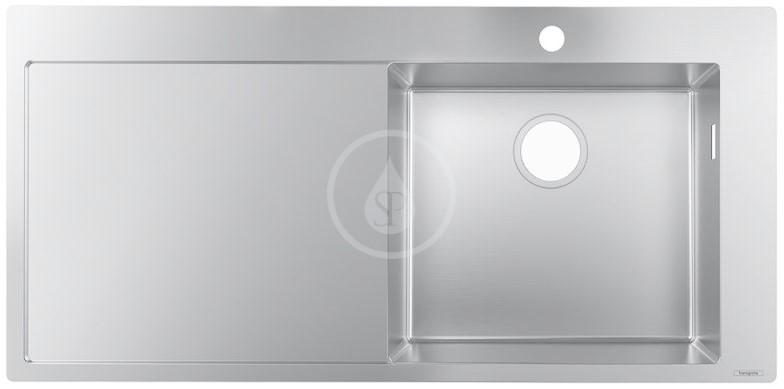 Hansgrohe Dřezy Vestavný dřez S715-F450, nerezová ocel