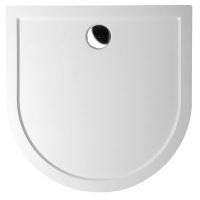 Polysan ISA 90 vanička z litého mramoru, půlkruh 90x90x4cm, bílá