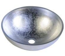 Sapho MURANO ARGENTO skleněné umyvadlo kulaté 40x13 cm, stříbrná