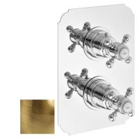 LONDON podomítková sprchová termostatická baterie, 2 výstupy, bronz