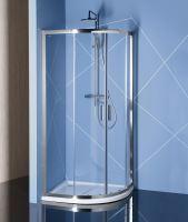 Polysan EASY LINE čtvrtkruhová sprchová zástěna 900x800mm, čiré sklo