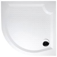 Gelco VIVA90 sprchová vanička z litého mramoru, čtvrtkruh, 90x90x4cm, R550