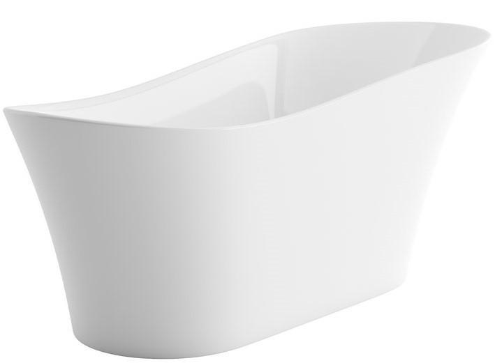 Vana MIRAGE PLUS 180x70/80 cm, bílá volně stojící