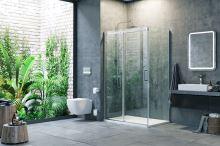Boční stěna ROLS pevná 2 100X200 cm, chrom, sklo čiré Clean Control