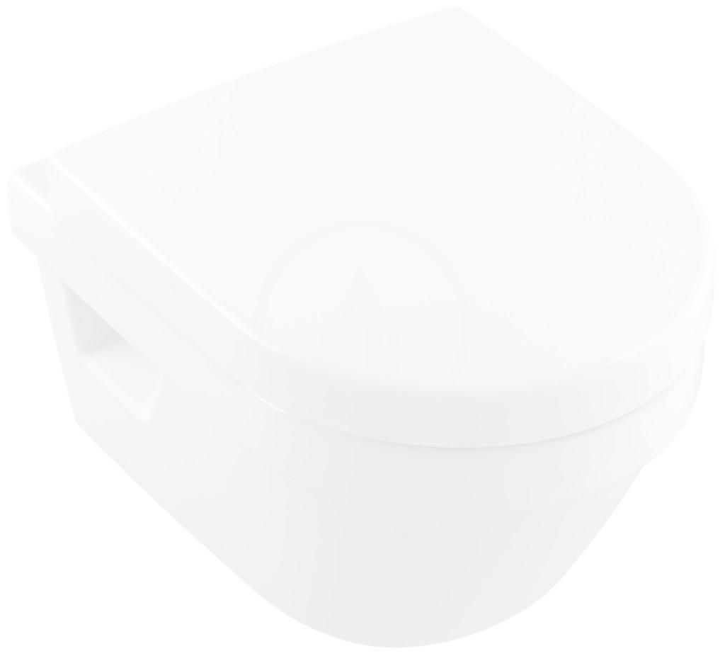Villeroy & Boch Architectura Závěsné WC Compact, zadní odpad, DirectFlush, alpská bílá