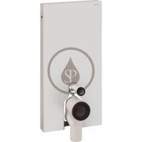 Geberit Monolith Sanitární modul pro stojící WC, 101 cm, boční přívod vody, bílá