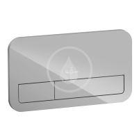 Villeroy & Boch ViConnect Ovládací tlačítko 200G, pro 2 množství splachování, lesklá šedá