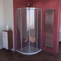 Polysan LUCIS LINE čtvrtkruhová sprchová zástěna,  R550, čiré sklo