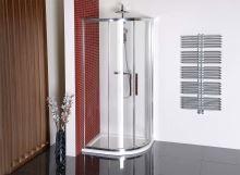 Polysan LUCIS LINE čtvrtkruhová sprchová zástěna 1000x800mm, L/R