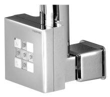KTX topná tyč s termostatem, s krytem pro kabel, 800 W, Chrom