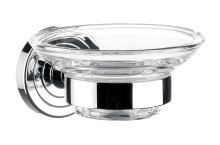 Emco Polo miska na mýdlo chrom, sklo čiré