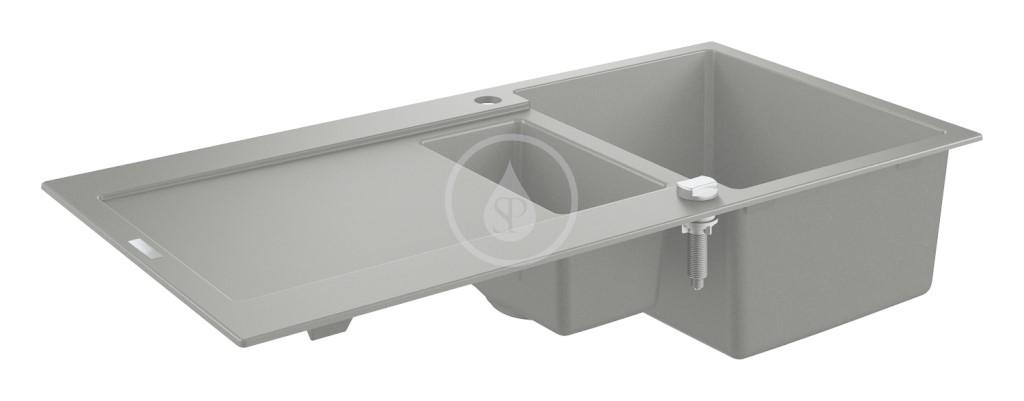 Grohe Dřezy Kompozitní dřez K500 s automatickým odtokem, 1000x500 mm, granitová šedá