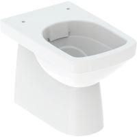 Geberit Selnova Square Stojící WC, 530x355 mm, Rimfree, bílá