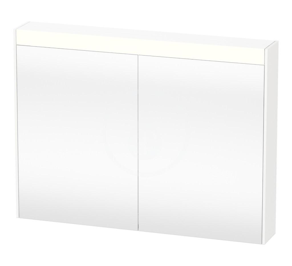 Duravit Brioso Zrcadlová skříňka 760x820x148 mm, 2 dvířka, lesklá bílá