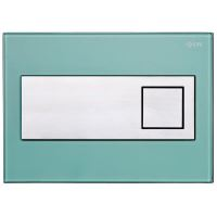 Tlačítko LIV RUBY sklo zelená