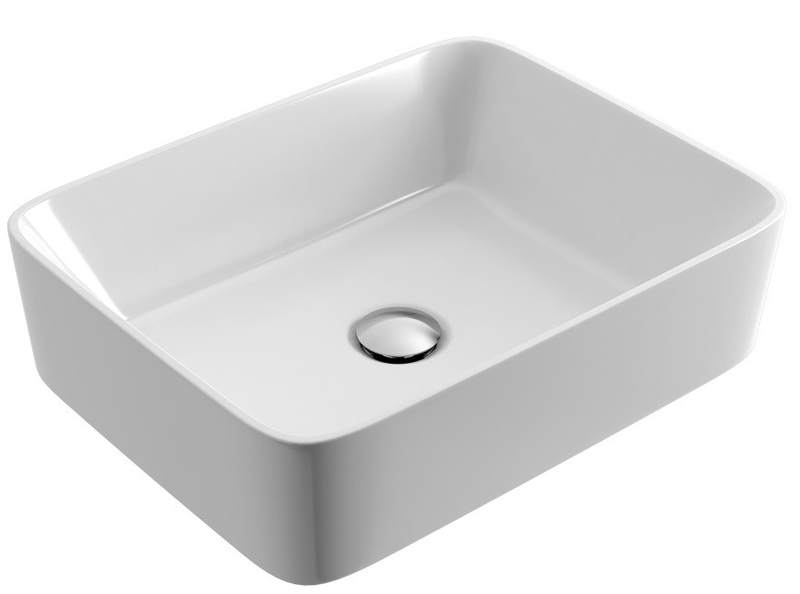 Umyvadlo na desku FORKA 47,5x37,5 cm bílé