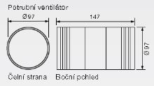 Zehnder Silent Potrubní ventilátor Basic