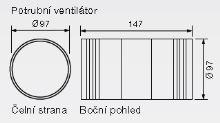 Zehnder Silent Potrubní ventilátor Timer - s časovačem