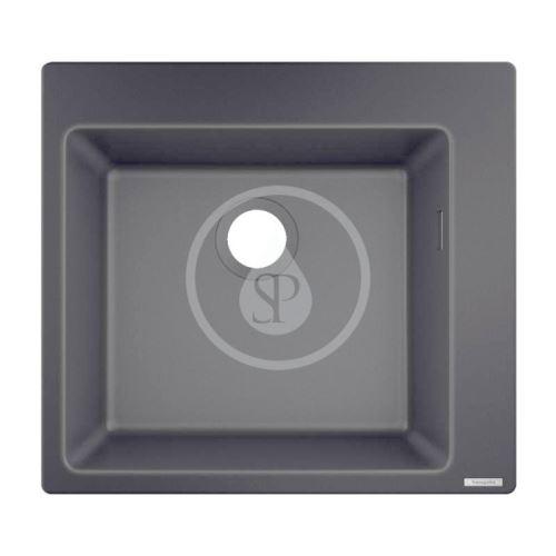 Hansgrohe Dřezy Vestavný granitový dřez S510-F450, grafitová černá