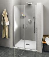 Polysan ZOOM LINE sprchové dveře dvojkřídlé, čiré sklo