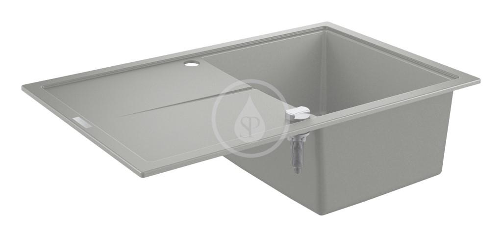 Grohe Dřezy Kompozitní dřez K400 s automatickým odtokem, 780x500 mm, granitová šedá