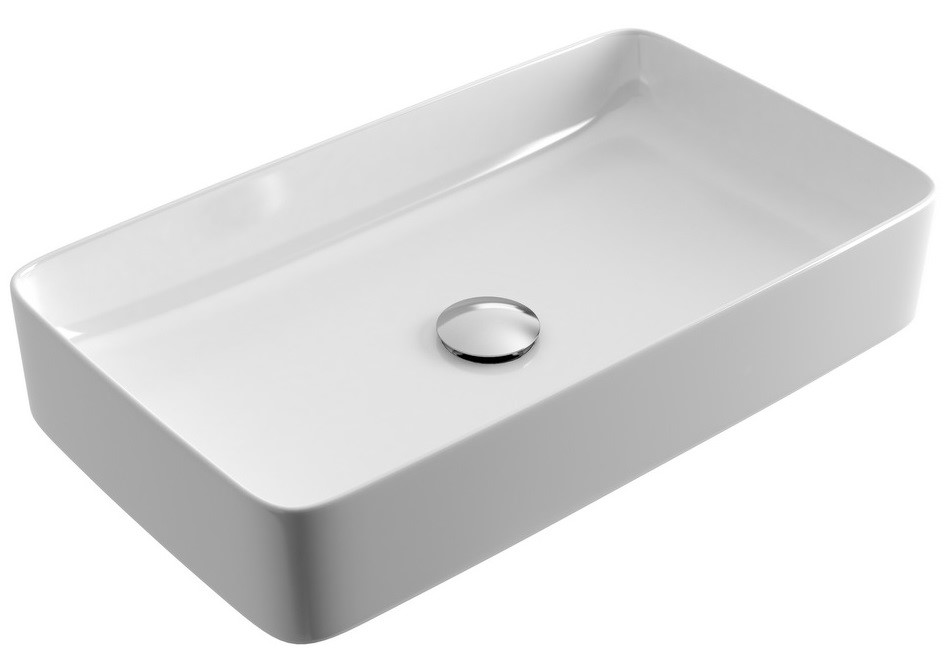 Umyvadlo na desku CORI 61X34,X11 cm bílé